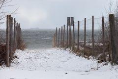 Strand in einem Blizzard Lizenzfreie Stockbilder