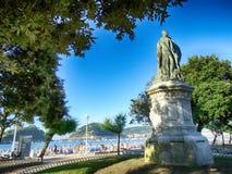 Strand en Baai in San Sebastian Spain Royalty-vrije Stock Fotografie