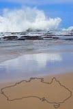 Strand en branding in Australië Stock Fotografie