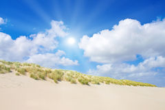 Strand en duinen Royalty-vrije Stock Foto's