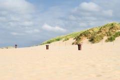 Strand en duinenachtergrond Stock Fotografie