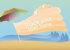 Strand en golvende lijnen Stock Illustratie