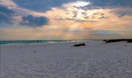 Strand en oceaan toneel voor vakanties en de zomer bij sanibal Royalty-vrije Stock Afbeeldingen