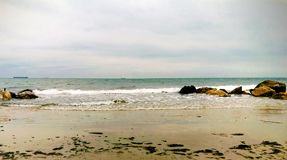 Strand en overzees mooi landschap stock afbeeldingen