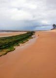 Strand en overzees op de kust van Bahia stock afbeelding