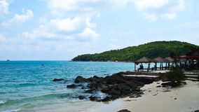 Strand en overzees in Thailand. Royalty-vrije Stock Foto's
