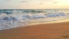 Strand en overzeese achtergrondtextuur Stock Foto's