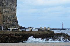 Strand en Rotsen! Royalty-vrije Stock Afbeeldingen