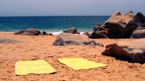 Strand en tropische seaa Stock Foto's