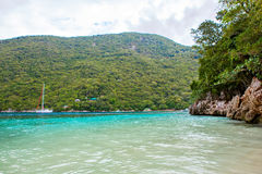 Strand en tropische toevlucht, Labadee-eiland, Haïti stock afbeeldingen