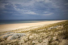 Strand en wolken Stock Fotografie
