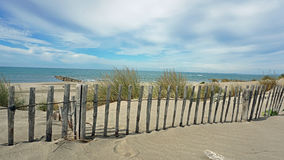 Strand Espiguette i Camarguen, Frankrike Royaltyfri Fotografi