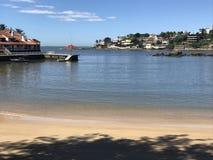 Strand in Espirito Santo Brazil stock foto's