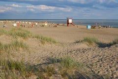 Strand in Estland lizenzfreie stockbilder