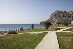 Strand för ‹för †för havsi Grekland Arkivbilder