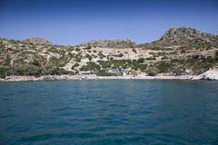 Strand för ‹för †för havsi Grekland Royaltyfria Bilder