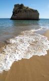 strand för 3 algarve Arkivfoto