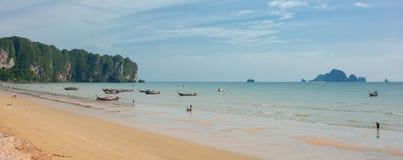 Strand för Ao Nang, Krabi Thailand Arkivfoto