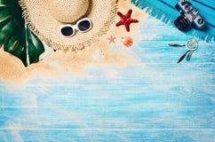 Strand för bästa sikt och marin- plankor Bakgrund med kopieringsutrymme arkivbilder