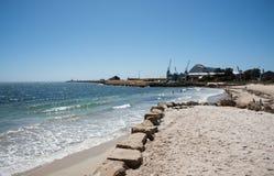 Strand för badare` s i Fremantle Arkivfoton