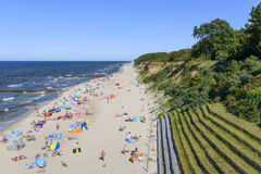 Strand för baltiskt hav Arkivfoto