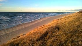 Strand för baltiskt hav i Litauen Arkivbilder