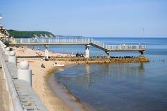 Strand för baltiskt hav. Svetlogorsk arkivbild