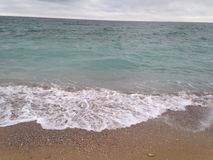 strand för Black Sea Black Sea vågsand Royaltyfri Fotografi