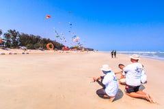 STRAND för CHA f.m. - MARS 9th: 15th Thailand internationella drakefestival Royaltyfria Foton