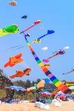 STRAND för CHA f.m. - MARS 9th: 15th Thailand internationella drakefestival Arkivbilder