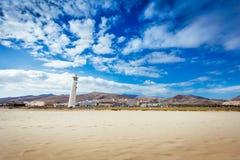 Strand för Fuerteventura fyrö Fotografering för Bildbyråer
