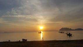 Strand för hattsairee i chumporn thailand3 vid S6 Royaltyfri Foto