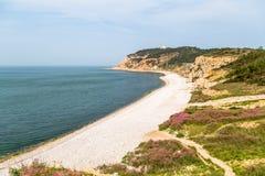 Strand för Jiuzhangya landskapfläck i den Changdao ön, Yantai Arkivfoto
