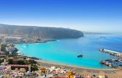 Strand för Los Cristianos i Arona södra Tenerife Fotografering för Bildbyråer