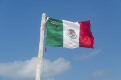 Strand för mexicansk flagga Arkivbild