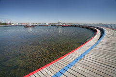 strand för promenad för Australien geelongpark Arkivbilder