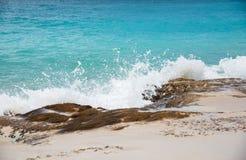 Strand för sand för Baie rougerosa färger Royaltyfria Bilder
