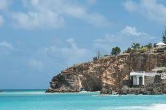 Strand för sand för Baie rougerosa färger Arkivfoton