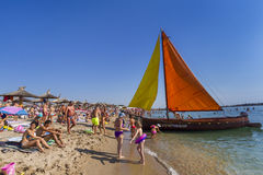 Strand för semesterort för Neptun havssommar Arkivfoto