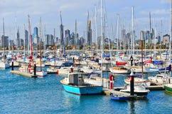 Strand för St Kilda i Melbourne arkivbilder