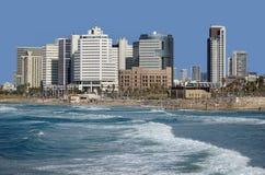 Strand för Tel Aviv ` s Royaltyfri Fotografi