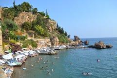 Strand för turkAntalia stad Royaltyfria Foton