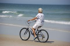 Strand-Fahrrad Lizenzfreie Stockfotos
