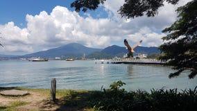 Strand fartyg, ö, sol, natur, royaltyfria bilder