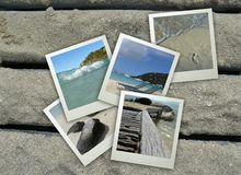 Strand-Feiertags-Collage Stockfoto