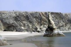 Strand, Felsen, Himmel Stockfotografie
