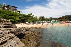 Strand Ferradurinha in Búzios, Brasilien Stockfotos