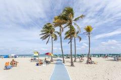 strand florida hollywood fotografering för bildbyråer