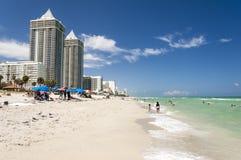 strand florida miami Royaltyfria Bilder