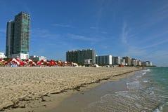 strand florida miami USA Royaltyfria Foton